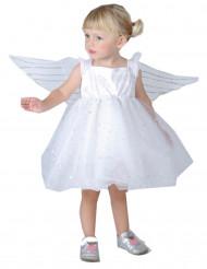 Engel-Mädchenkostüm für Kleinkinder weiss