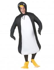 Lustiger Pinguin Unisex-Kostüm schwarz-weiss-gelb