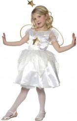 Kleine Fee Kinderkostüm Elfe weiss-gold