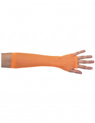 Netz-Armstulpen, neon-orange