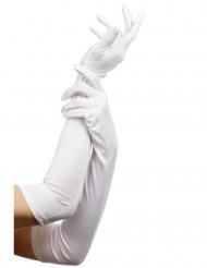 Lange Damenhandschuhe weiss 52cm