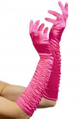 Lange Handschuhe Prinzessin pink 46cm