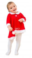 Weihnachts-Mädchenkostüm Nikolaus rot-weiß