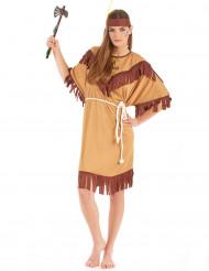 Sexy Indianerin Squaw Damenkostüm beige-braun