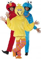 Sesamstraßen-Kostüme für drei Erwachsene in Rot, Blau und Gelb
