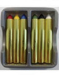 Karneval Make-up Stifte Schminkstifte 6-teilig bunt