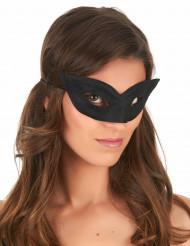 Halbmaske Faschingsmaske schwarz