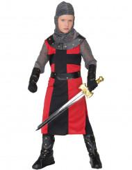 Kreuzritter Kinderkostüm Mittelalter rot-grau
