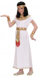 Kleopatra-Mädchenkostüm Nilkönigin weiß-gold