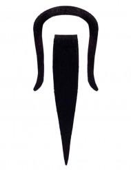 Chinese Bart Kostüm-Zubehör schwarz