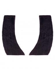 Koteletten Kostüm-Zubehör schwarz
