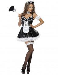 Sexy Hausmädchen Damenkostüm schwarz-weiss