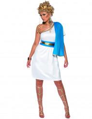 Römerin Damenkostüm Antike blau-weiss