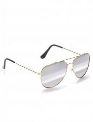 Pilotenbrille Fliegerbrille gold