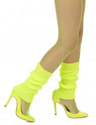 Stulpen Beinstulpen neon-gelb