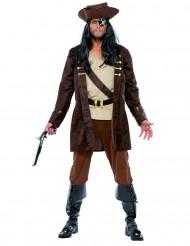 Gefürchteter Pirat Herrenkostüm braun-beige