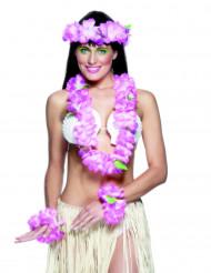 Hawaii Kostümzubehör-Set 4-teilig pink