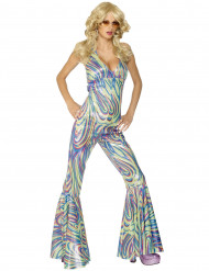 Discogirl Kostüm 70er bunt