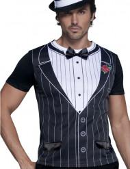 Gangster T-Shirt weiss-grau-schwarz