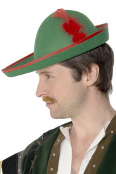 Bogenschütze Hut grün-rot