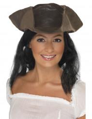 Piraten Hut Dreispitz braun