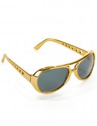 Rock n Roll Brille Kostümzubehör gold