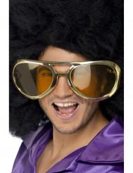 Riesige Disco Brille gold