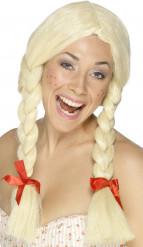 Schülerin-Perücke Damen blond