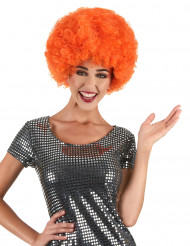 Afro-Perücke orange