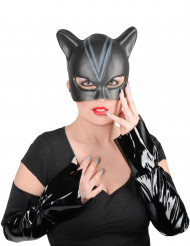 Catwoman Lizenz Accessoire-Set für Damen schwarz