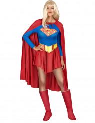 Supergirl Lizenz-Kostüm blau-rot-gelb