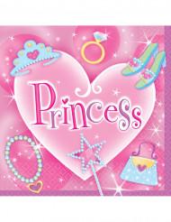 Prinzessin Party Servietten Set 16 Stück pink-bunt