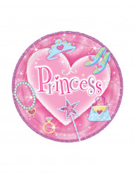 Prinzessin Party Pappteller Set klein 8 Stück pink-bunt