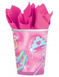 Prinzessin Becher Set rosa-bunt