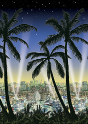 Hollywood Nights Wanddeko bunt 12m