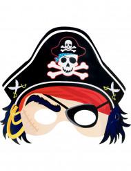 Papp-Maske Piraten bunt