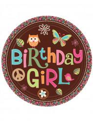 Birthday Girl Teller 8 Stück bunt