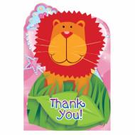 Dankeskarten Dschungel-Motiv 8 Stück bunt