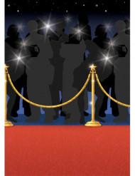 Hollywood Roter Teppich Wanddeko bunt 12m