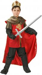 Mittelalterlicher König Kinderkostüm Ritter rot-schwarz