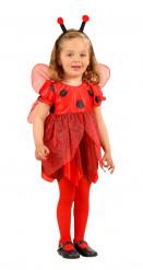 Marienkäfer Kinderkostüm rot-schwarz