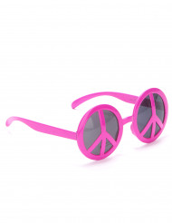 Hippie Brille Peace Brille rosa