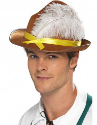 Bayern Hut mit Feder braun