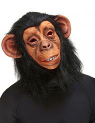 Affe Maske Schimpanse beige-schwarz