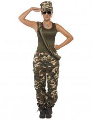 Sexy Armee Damenkostüm camouflage-grün