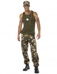 Soldaten-Kostüm für Herren, camouflage