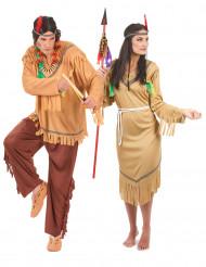 Indianer-Paarkostüm für Erwachsene, braun