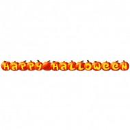 Kürbis Banner Happy Halloween Party-Deko orange-gelb 1,9m
