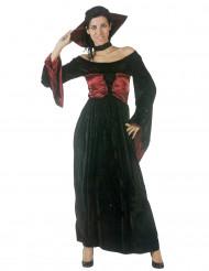 Edle Vampir-Lady Halloween Kostüm für Damen schwarz-rot
