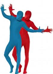 Zweite Haut - Kostüme für zwei Erwachsene in Rot und in Blau